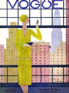 Copertina di Vogue US del 1 maggio 1928 - illustrazione di Georges Lepape, Vogue © Condé Nast
