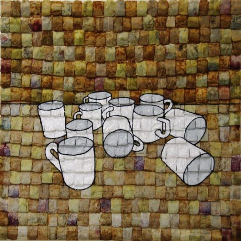 Lorenzo Guaia, Sulla capacità di (In)fusione in tè; Tecnica mista su filtri usati di tè su legno