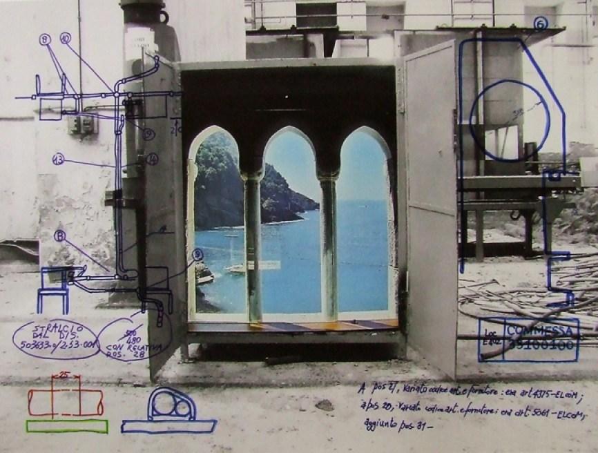 Giacomo Montanaro, Untitled (In the middle of Nowhere) 2013 acidi su carta fotografica, galleria Il ritrovo di Rob Shazar