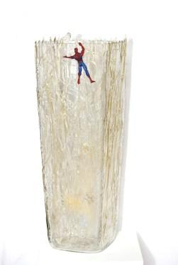 Grazia Resta, Happy Birthday Spiderman, 2012, Tecnica mista con resina, 64x22x22cm, Galleria Galleria Alquindici