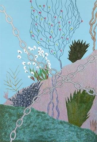 Betty Bee, Life /Vita, 2013, tecnica mista su tela Courtesy l'artista e Collezione Maurizio Morra Greco, Napoli