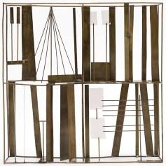 Fausto Melotti Contrappunto II 1969 Ottone, 25 x 25 x 4 cm Collezione privata