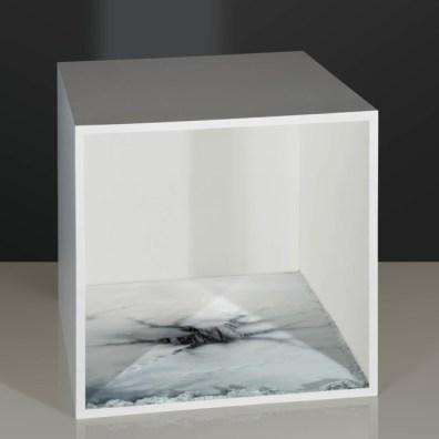 Aqua Aura, Empty spaces, cm 90x90, stampa digitale su carta cotone BW Hahnemule con cornice rifinita oro, 2014
