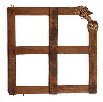 Emilio Scanavino, Geometria malata, 1967, legno e corda, 54.5x3.5x54 cm Foto Jurgen Becker