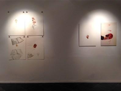 Giovanni Gaggia, Eva Gerd, Et curis; veduta della mostra, Rossmut, 2014, Roma