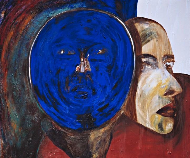 Francesco Clemente, Untitled, 1983, olio su tela, Collezione Maramotti, Reggio Emilia © The artist Courtesy Collezione Maramotti