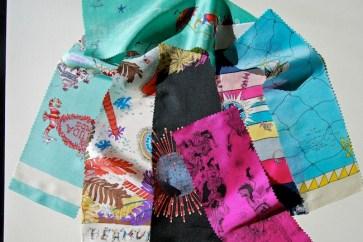 Campioni di stoffa a tema caraibico