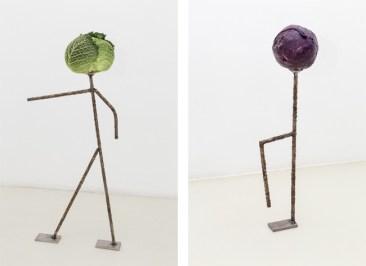Luca Francesconi, Capo (capurale), 2014, stainless steel worked, vegetable - Cafone, 2014, stainless steel worked, vegetable