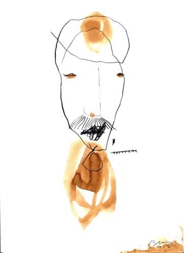 Casabarata, matita terra e acqua su carta, 2013, 29,7x21 cm