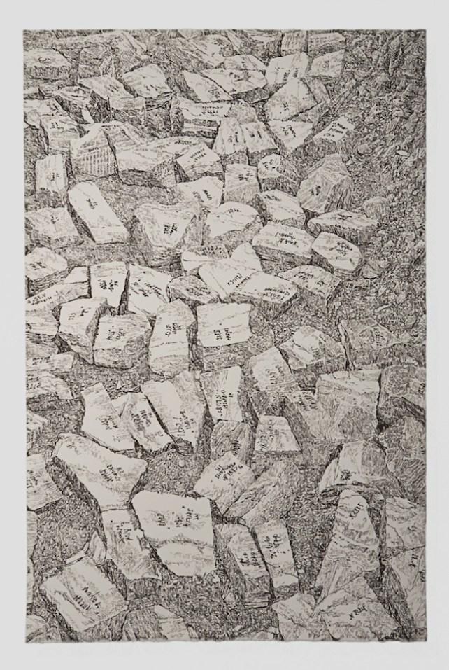 Elisabeth Scherffig Cava - 2012 Pastello su carta Arches / Chalk lead on Arches paper Foto di: A. Guidetti e G. Ricci Courtesy Studio la Città - Verona