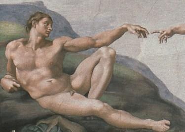 Michelangelo Buonarroti Adamo (particolare dalla Volta della Sistina), 1508-1512 Affresco © Musei Vaticani