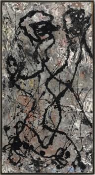 Jackson Pollock Composition with Black Pouring, 1947 olio e smalto su tela, montata su masonite, The Olnick Spanu Collection © Jackson Pollock, by SIAE 2014