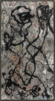 Jackson Pollock Composition with Black Pouring, 1947 olio e smalto su tela, montata su masonite, The Olnick Spanu Collection © Jackson Pollock, by SIAE 2014