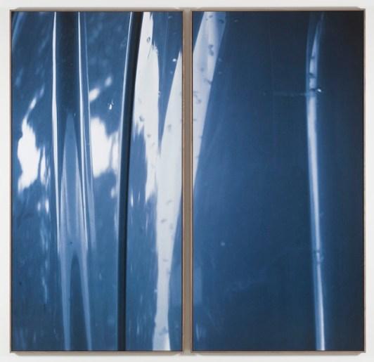 Jan Dibbets New Colorstudies - Diptych Blue (Nuovo studi di colore – dittico blu),1976-2012 fotografia a colori laminata su Dibond / color photograph laminated to Dibond 2 elementi / elements, 250 x 125 cm ciascuno / each Courtesy Gladstone Gallery, New York e Bruxelles