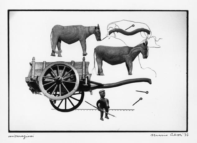 """Mario Cresci. Dalla serie """"Misurazioni"""", 1977, Copyright: autori e Museo di Fotografia Contemporanea"""