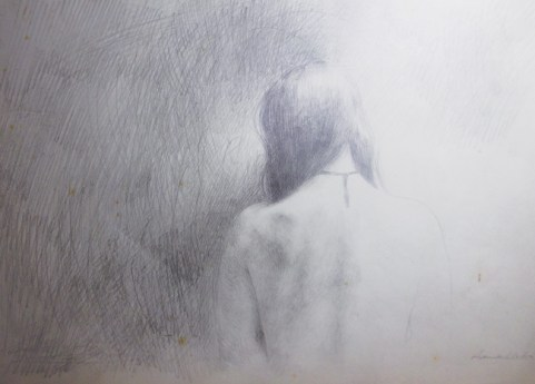 Anna Madia Monologue, 2014 matita su carta antica pencil on old paper cm 22,5x33
