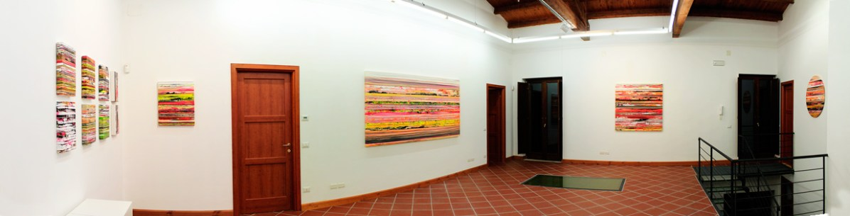 Paolo Bini. Paintings on tape, Panoramica dell'allestimento della mostra