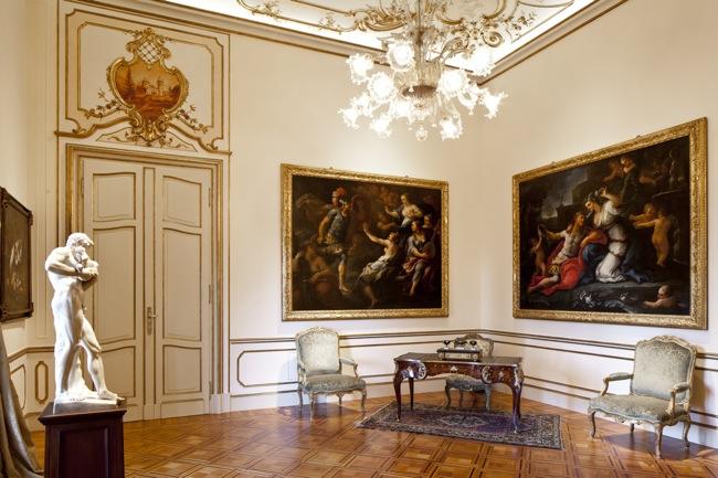 Sala delle udienze, veduta, Villa Margherita, Bordighera, (Imperia)