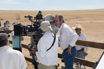 "Tommy Lee Jones sul set di ""The Homesman"""