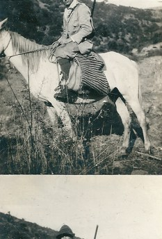 L'orMa, Dismount, 8x5,5cm, intervento manuale su fotografia antica