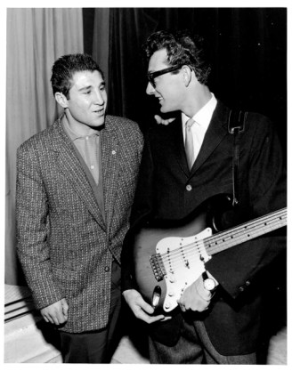 © 2014, Bill Francis, Flair Photography, Buddy Holly with Willie Toweel, Trocadero Theatre, London 1-3-1958