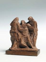 Arturo Martini, Pietà 1945-1946 gesso patinato a terracotta, cm 23x20x10 Treviso, collezione privata sul retro della base: Martini