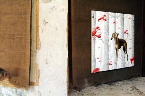 Andrea Buglisi, Due Mondi, 2013 olio su tela