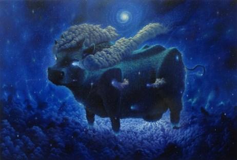 Fulvio Di Piazza, Madre Blu, 2014, olio su tela, 170x250cm