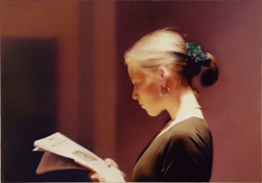 Gerhard Richter, Lesende, 1994 Reader Oil on canvas, 72 cm x 102 cm San Francisco Museum of Modern Art, Purchase through the gifts of Mimi and Peter Haas and Helen and Charles Schwab, and the Accessions Committee Fund: Barbara and Gerson Bakar, Collectors Forum, Evelyn D. Haas, Elaine McKeon, Byron R. Meyer, Modern Art Council, Christine and Michael Murray, Nancy and Steven Oliver, Leanne B. Roberts, Madeleine H. Russell, Danielle and Brooks Walker, Jr., Phyllis Wattis, and Pat and Bill Wilson © 2014 Gerhard Richter