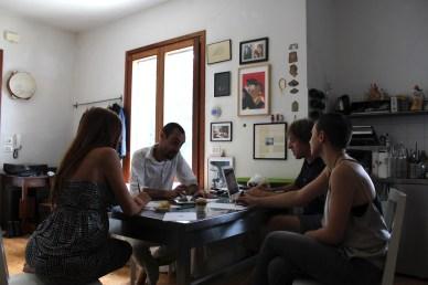 Debora Ricciardi, Giovanni Gaggia, Roberto Paci Dalò e Mona Lisa Tina al lavoro
