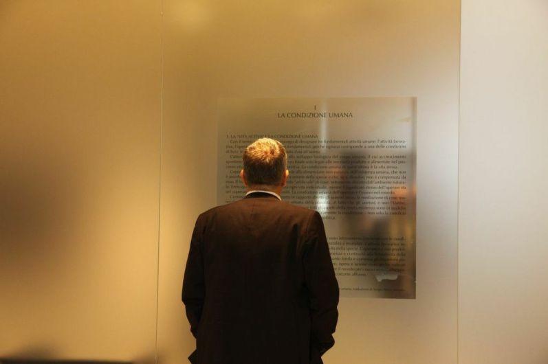 Vita Activa. Figure del lavoro nell'arte contemporanea, Palazzotto Albanese, Pescara Foto Paolo Angelucci (inaugurazione della mostra)