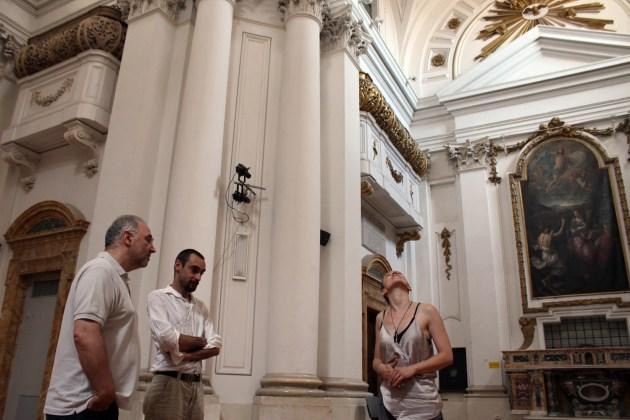 Sopralluogo alla Chiesa della Maddalena con Antonio Cioffi, Giovanni Gaggia e Mona Lisa Tina