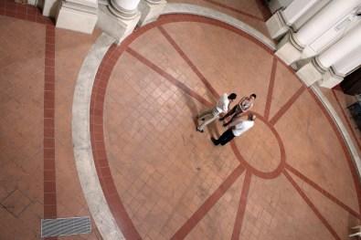 Il centro della Chiesa della Maddalena con Mona Lisa Tina, Giovanni Gaggia ed Antonio Cioffi