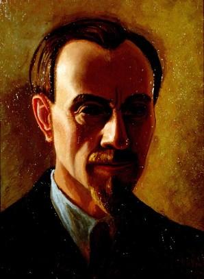 Luigi Russolo, Autoritratto, 1940, olio su tavola, Collezione Comune di Portogruaro