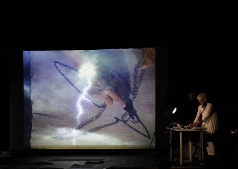 Joan Jonas, Reanimation (2010/2012/2013) Performance: Documenta 13, Kassel, 2012 Photo: Maria Rahling Courtesy the artist