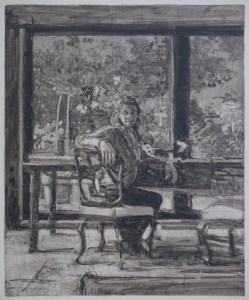 "Federico Pietrella, ""Capalbio (29 Aprile 2014)"", 2014, olio su tela cartonata, cm 60X50"