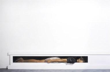 Tenardi, Traslochi* - olio e tempera su tavola + pietra, 200x50x25, 2014