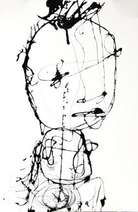Danilo Bucchi, ASSOLO, 2014, enamel on paper, 150x100 cm