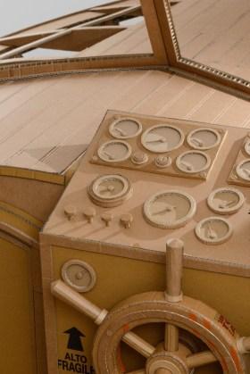 Chris Gilmour, work in progress Yacht Cantieri Camuffo, cartone e colla, 2013