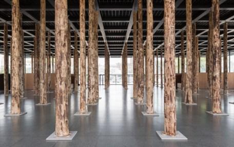 David Chipperfield, Sticks and Stones, an intervention , installation view, Photo: David von Becke