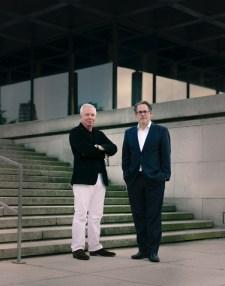 David Chipperfield e Udo Kittelmann, Photo: Simon Menges