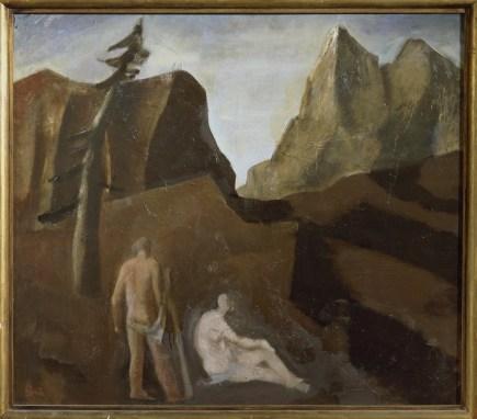 Mario Sironi, Meriggio, 1931-32, olio su tela, cm. 90x102, Galleria d'arte moderna di Palazzo Pitti, acquistato alla XVIII° Esposizione Biennale Internazionale d'Arte, Venezia 1932.