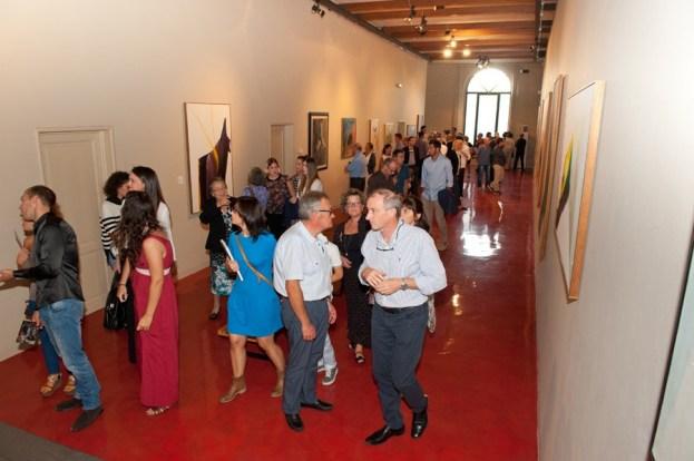 PAUL JENKINS, The Spectrum of Light, 2014, veduta dell'inaugurazione della mostra, Prato