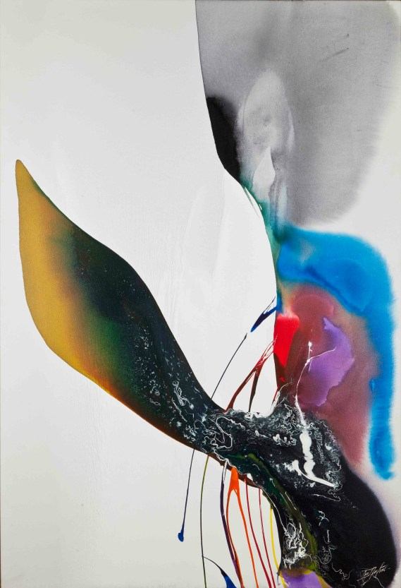 Paul Jenkins, Phenomena Mephisto Stance, 1969, Acrylic on canvas, 188 x 125 cm