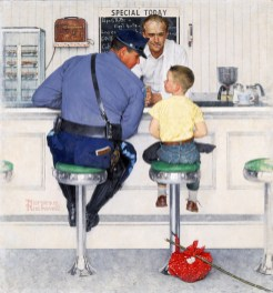 Norman Rockwell The Runaway (Il fuggiasco), 1958 Olio su tela, 90,5 x 85 cm Cover for The Saturday Evening Post, September 20, 1958 ©1958 SEPS: Licensed by Curtis Licensing, Indianapolis, IN, USA. All rights reserved. www.curtislicensing.com Norman Rockwell Museum Collections