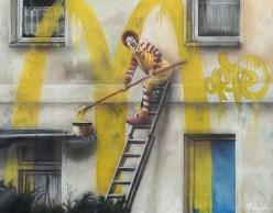 Federico Unia, Illegal, 2014, tecnica mista su carta, 27x30 cm