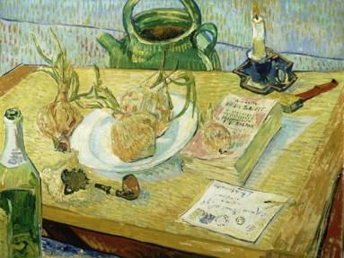Vincent van Gogh, Natura morta con cipolle, 1889, olio su tela, 49.6x64.4 cm, Kröller-Müller Museum, Otterlo © Kröller-Müller Museum, Otterlo