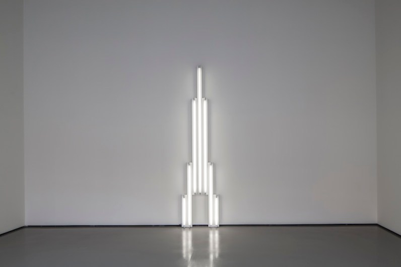 Dan Flavin, Monument for V. Tatlin, 1964, Courtesy of David Zwirner, New York/London. Pinault Collection. Installation view at Palazzo Grassi 2014. Ph: © Palazzo Grassi, ORCH orsenigo_chemollo © 2014 Stephen Flavin/Artists Rights Society (ARS), New York © Dan Flavin by SIAE 2014