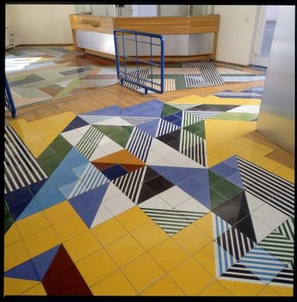 Gio Ponti, Pavimenti per gli uffici della Salzburger Nachrichten | Particolare del pavimento @ Gio Ponti Archives