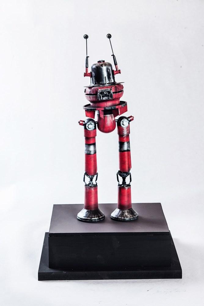 Marco Bolognesi, Goliath Mk21 the Guardian, collage, toys, plastic, cm 12x15x35 h, 2014